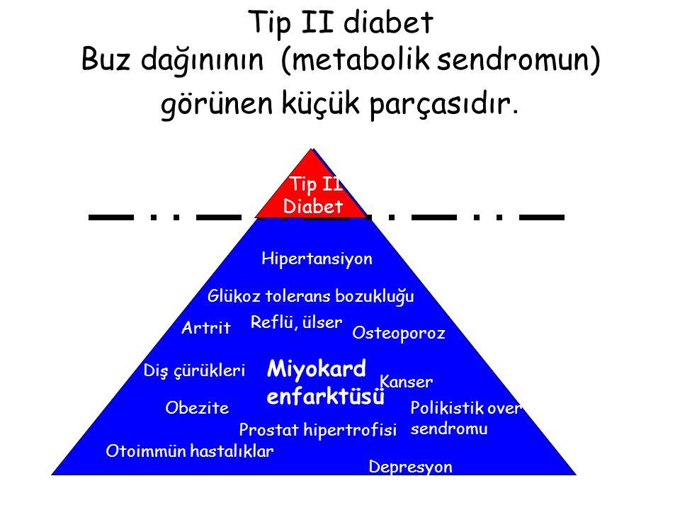 Tip II diabet Buz dağınının (metabolik sendromun) görünen küçük parçasıdır.