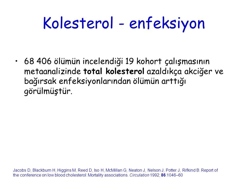 Kolesterol - enfeksiyon
