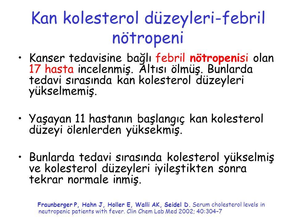 Kan kolesterol düzeyleri-febril nötropeni
