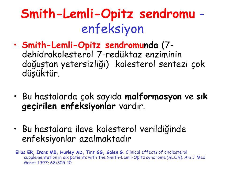 Smith-Lemli-Opitz sendromu -enfeksiyon