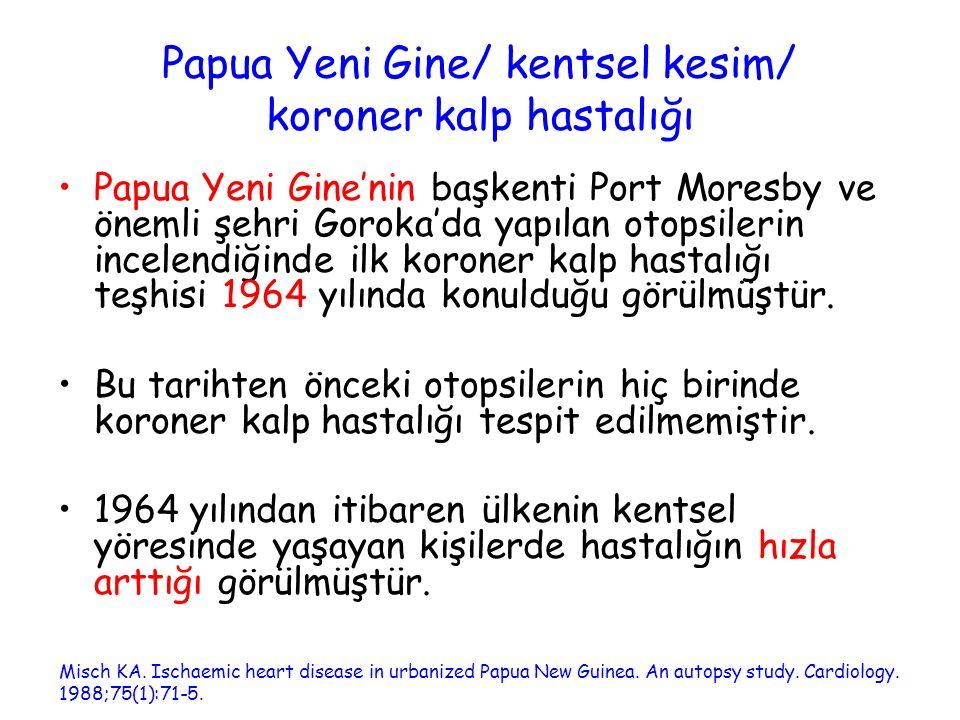 Papua Yeni Gine/ kentsel kesim/ koroner kalp hastalığı