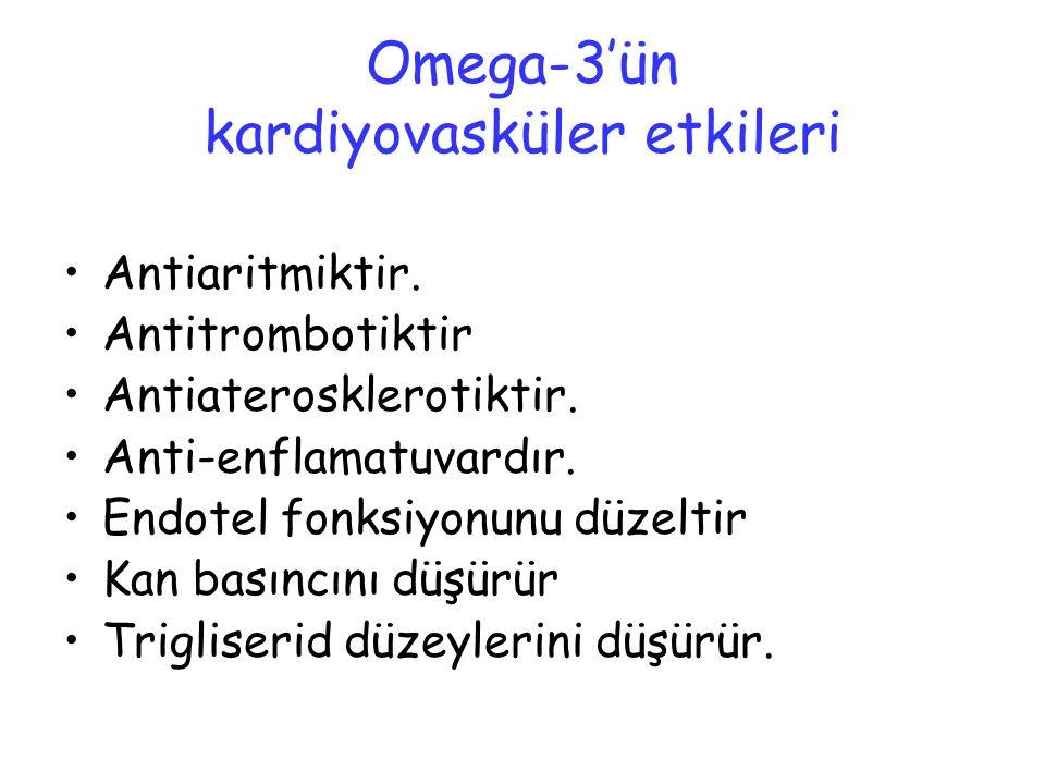 Omega-3'ün kardiyovasküler etkileri