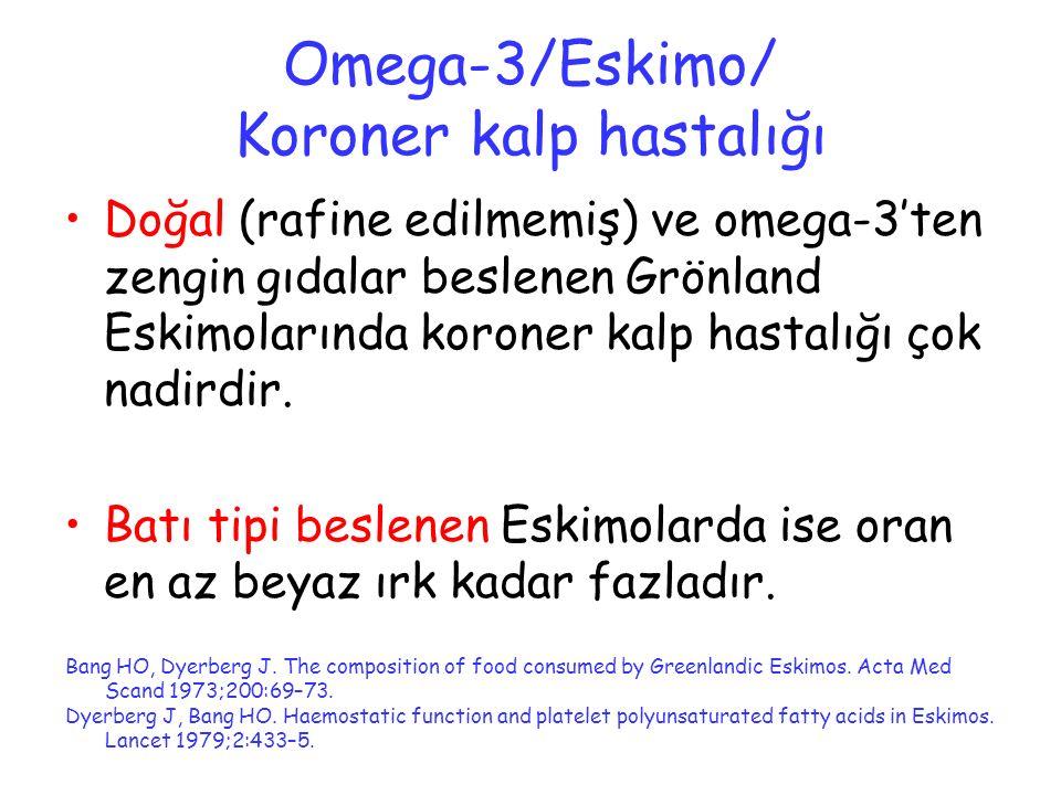 Omega-3/Eskimo/ Koroner kalp hastalığı