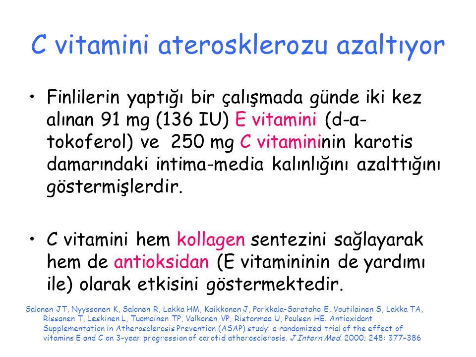 C vitamini aterosklerozu azaltıyor