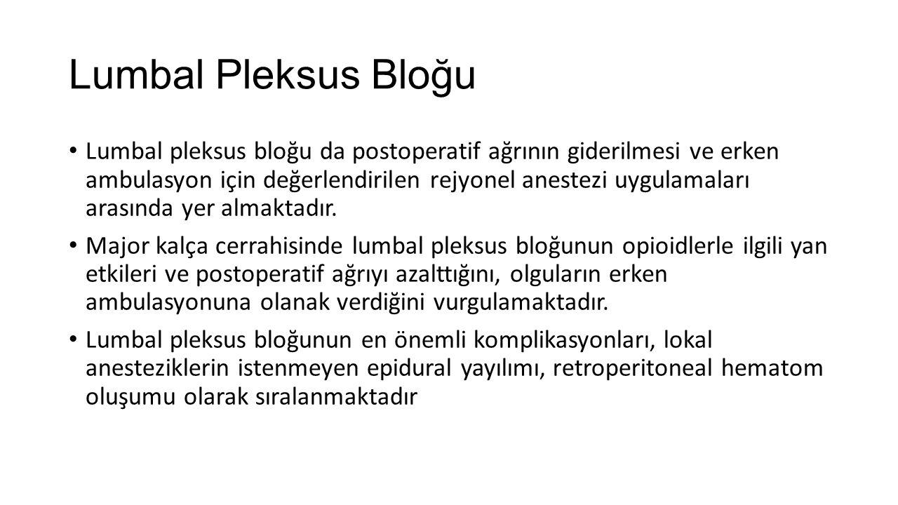 Lumbal Pleksus Bloğu