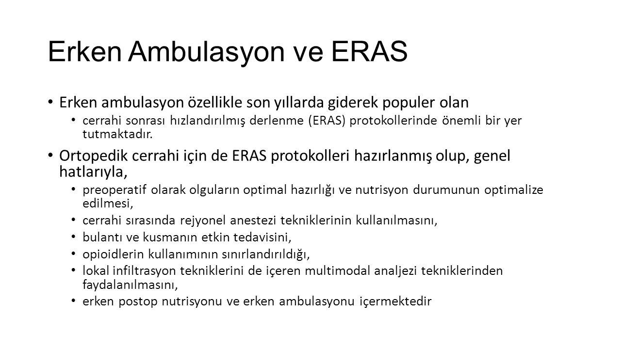 Erken Ambulasyon ve ERAS