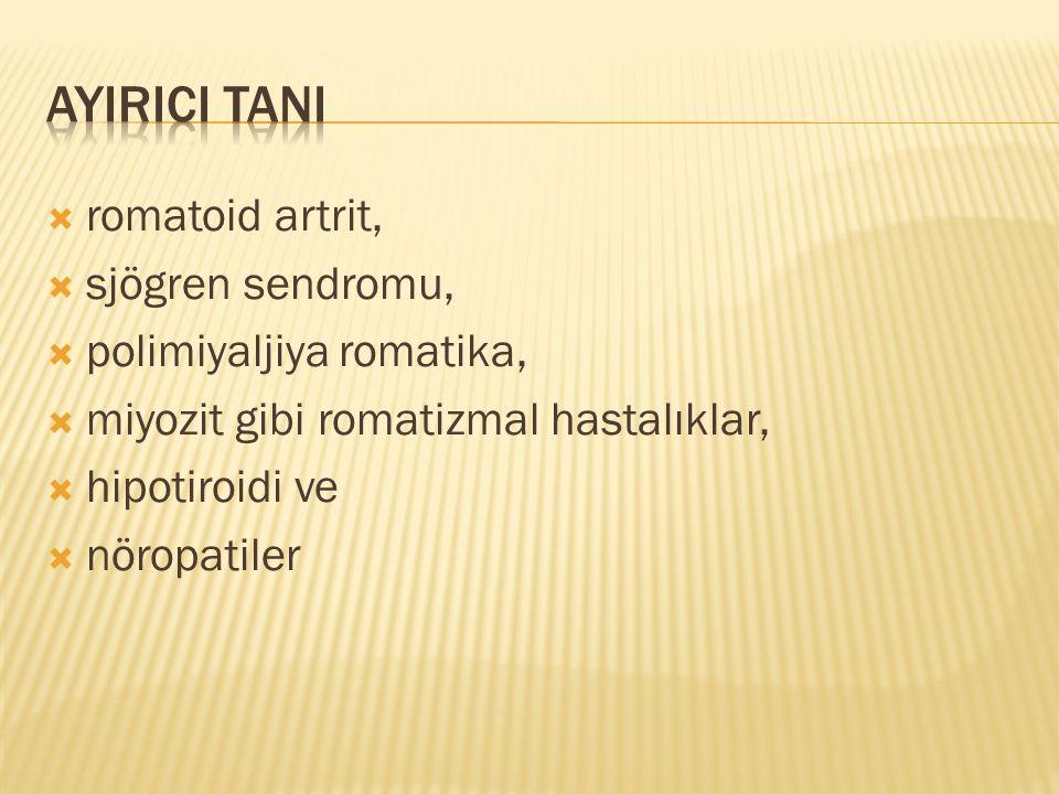 AYIRICI TANI romatoid artrit, sjögren sendromu,