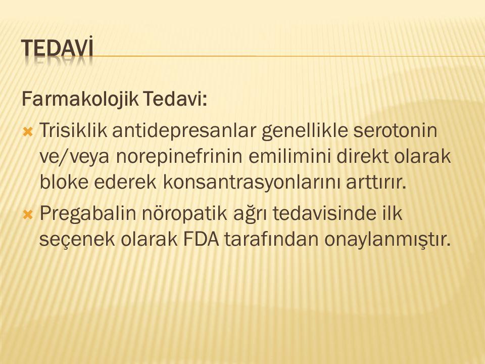 TEDAVİ Farmakolojik Tedavi: