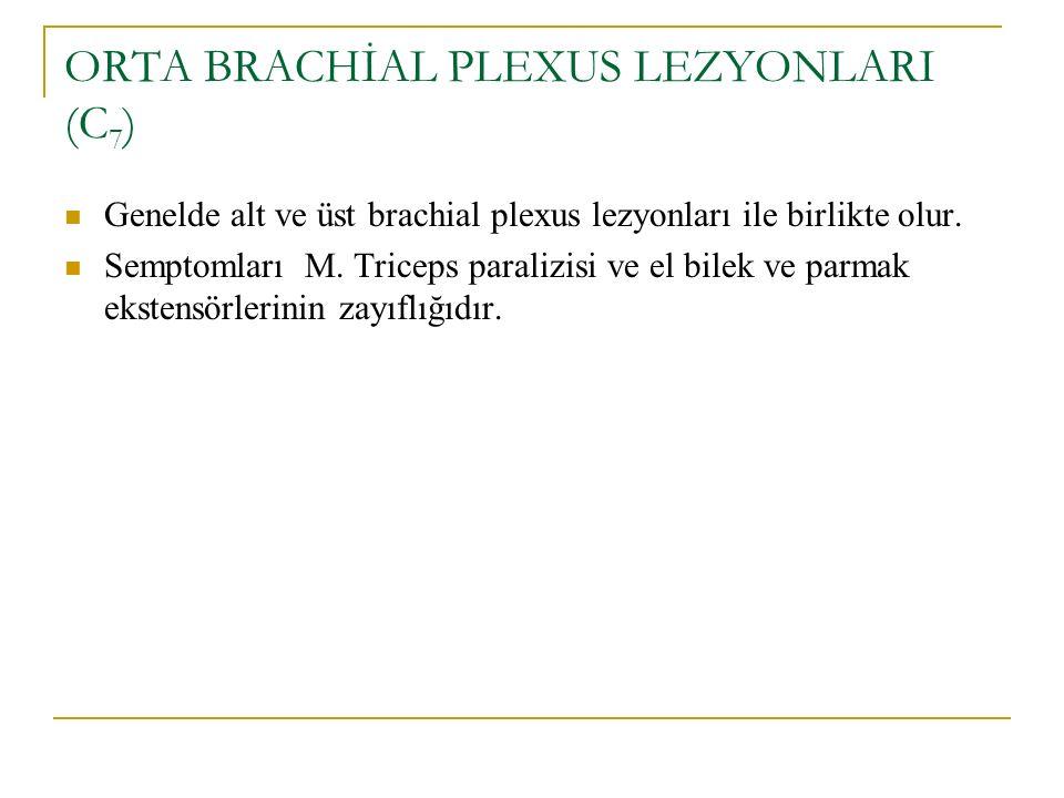 ORTA BRACHİAL PLEXUS LEZYONLARI (C7)