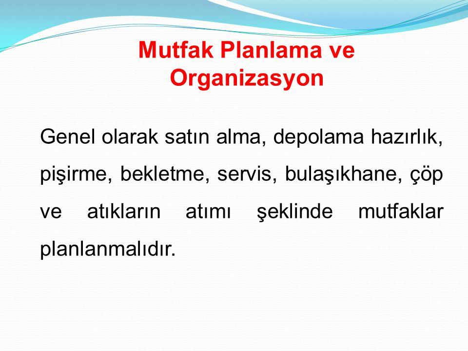 Mutfak Planlama ve Organizasyon