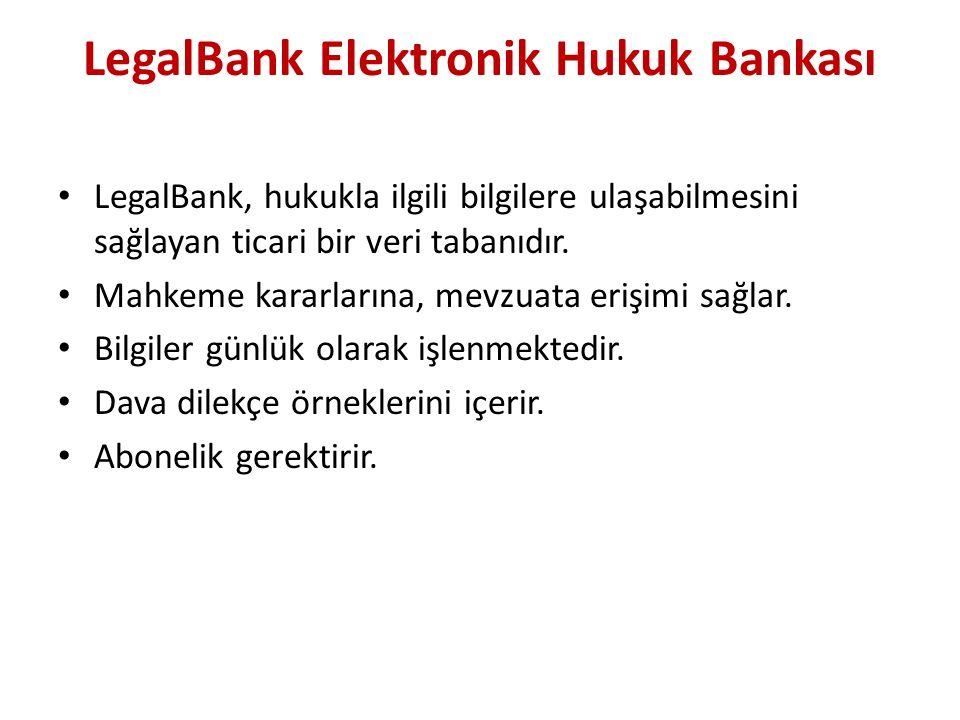 LegalBank Elektronik Hukuk Bankası