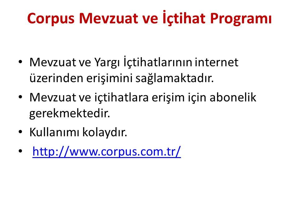 Corpus Mevzuat ve İçtihat Programı