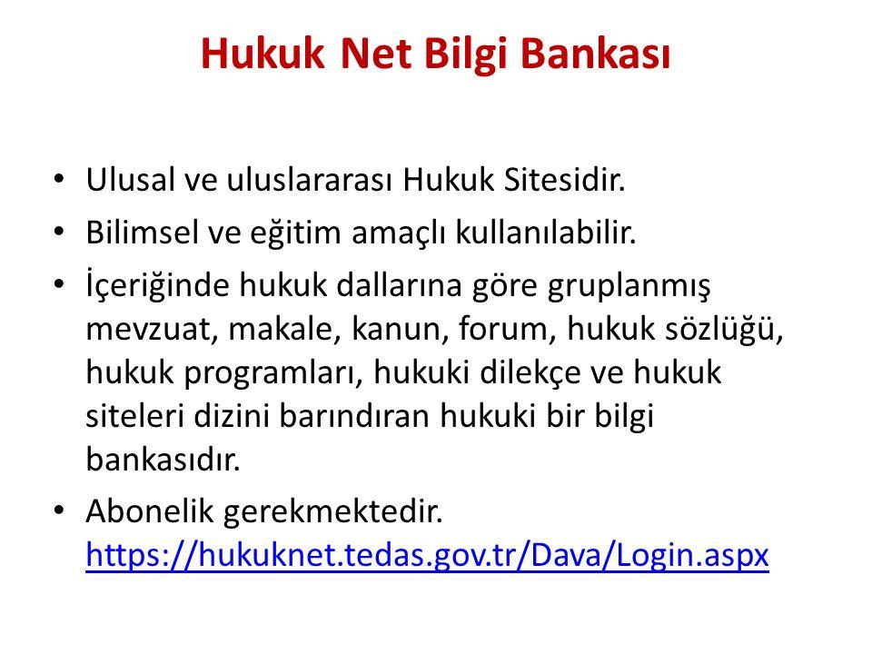 Hukuk Net Bilgi Bankası