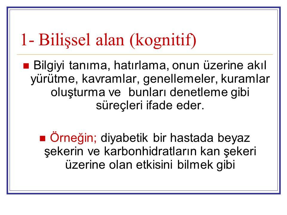 1- Bilişsel alan (kognitif)