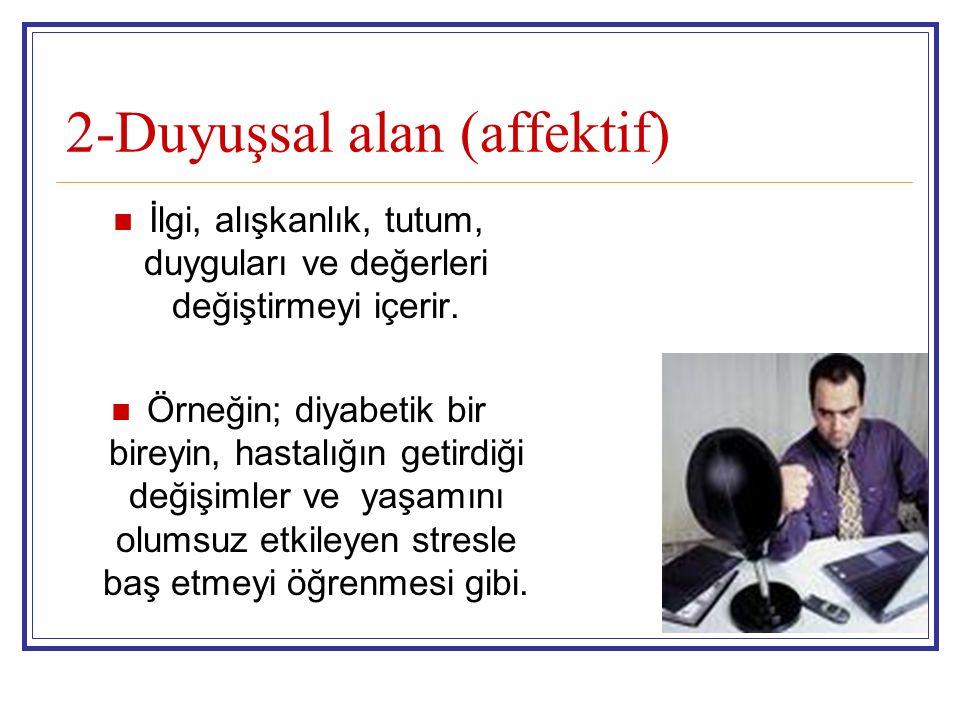 2-Duyuşsal alan (affektif)