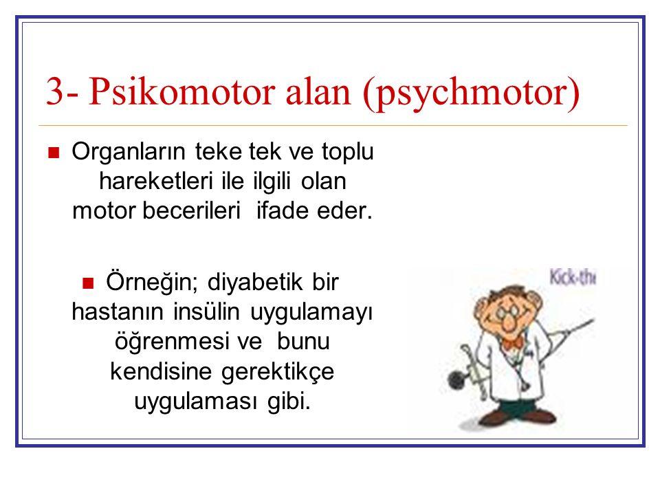 3- Psikomotor alan (psychmotor)