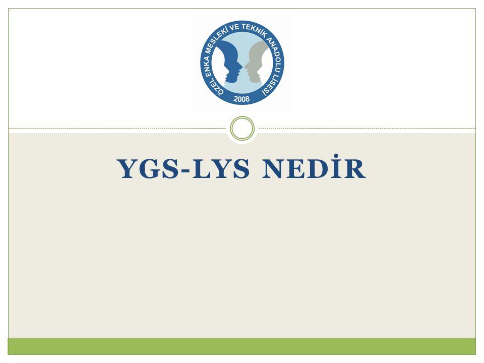 YGS-LYS NEDİR
