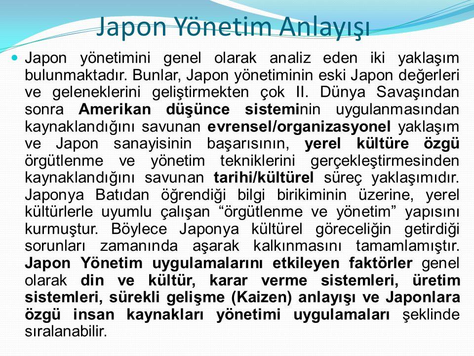 Japon Yönetim Anlayışı