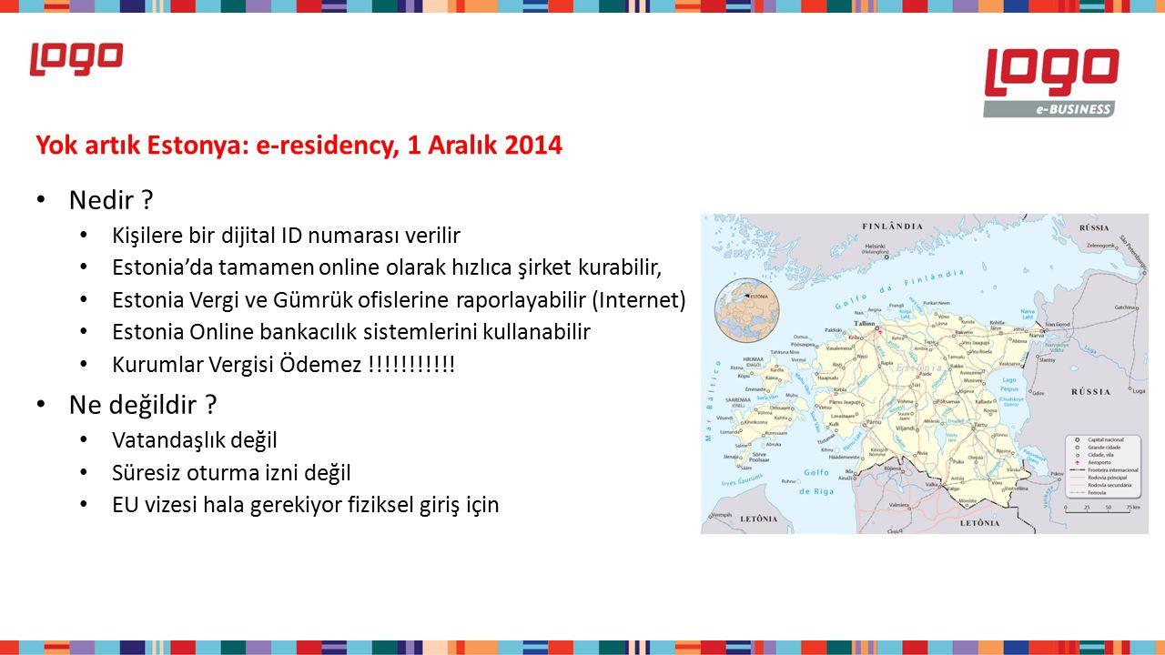 Yok artık Estonya: e-residency, 1 Aralık 2014