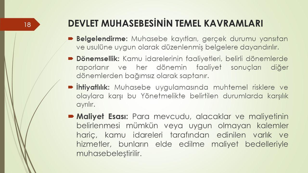 DEVLET MUHASEBESİNİN TEMEL KAVRAMLARI