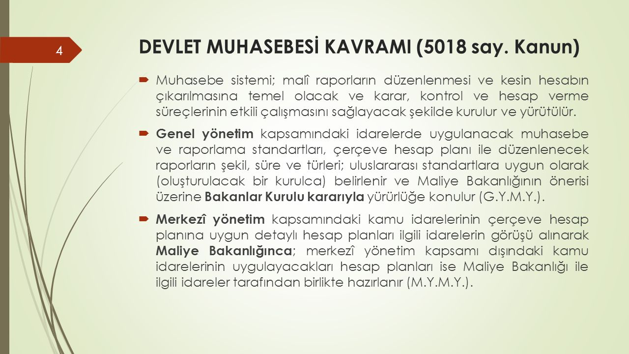 DEVLET MUHASEBESİ KAVRAMI (5018 say. Kanun)