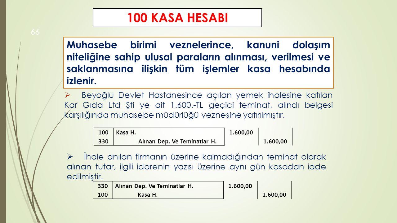 100 KASA HESABI