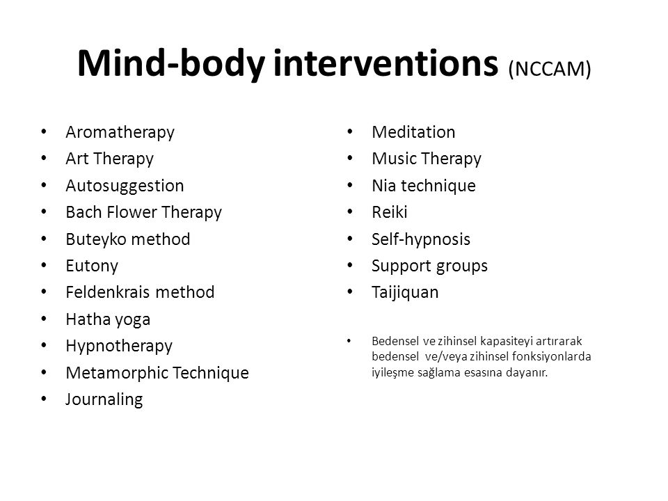 Mind-body interventions (NCCAM)