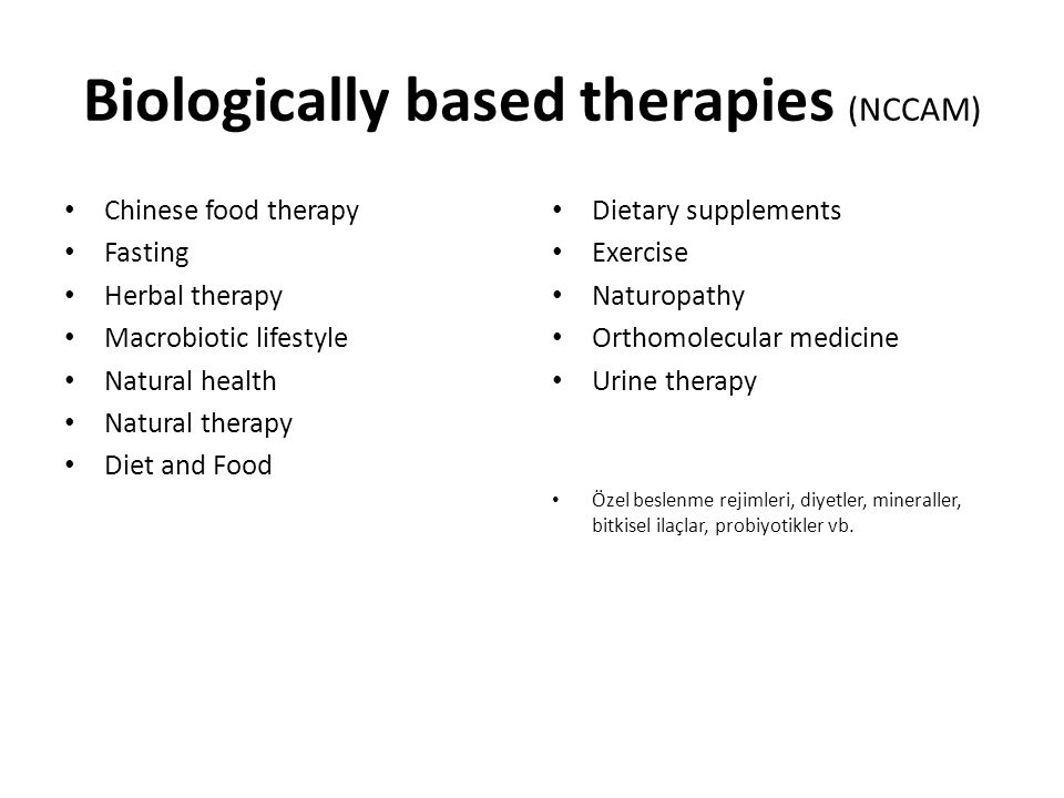 Biologically based therapies (NCCAM)