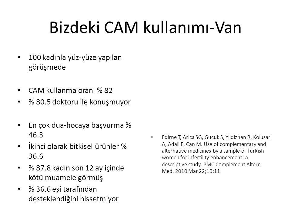 Bizdeki CAM kullanımı-Van