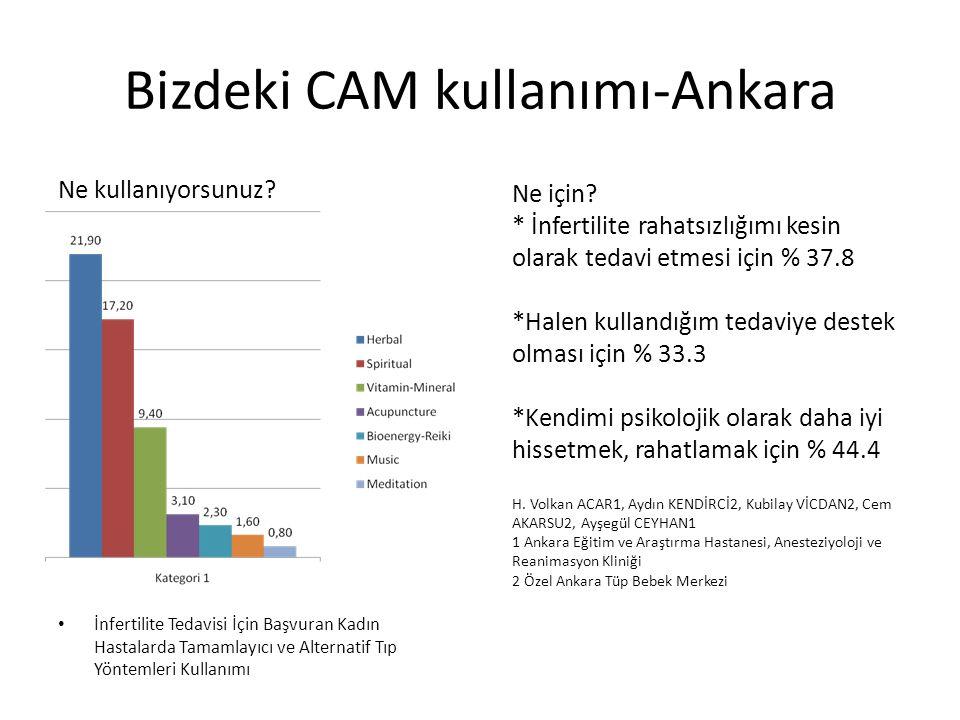 Bizdeki CAM kullanımı-Ankara