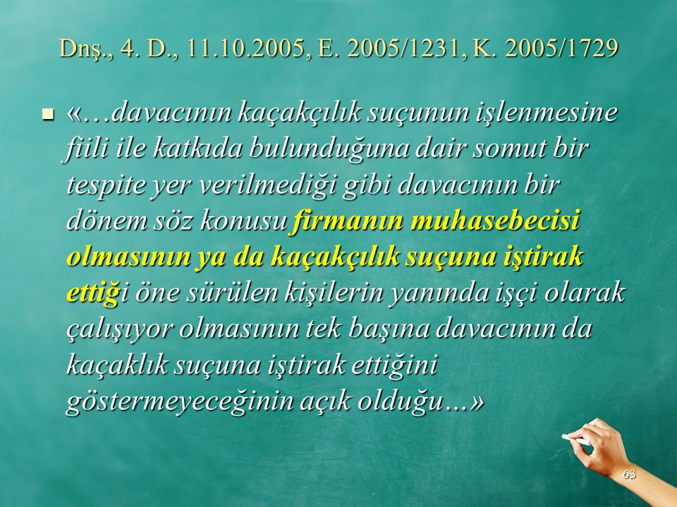 Dnş., 4. D., 11.10.2005, E. 2005/1231, K. 2005/1729