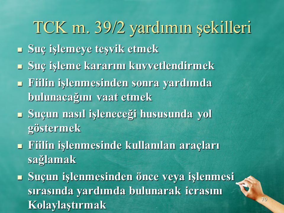 TCK m. 39/2 yardımın şekilleri