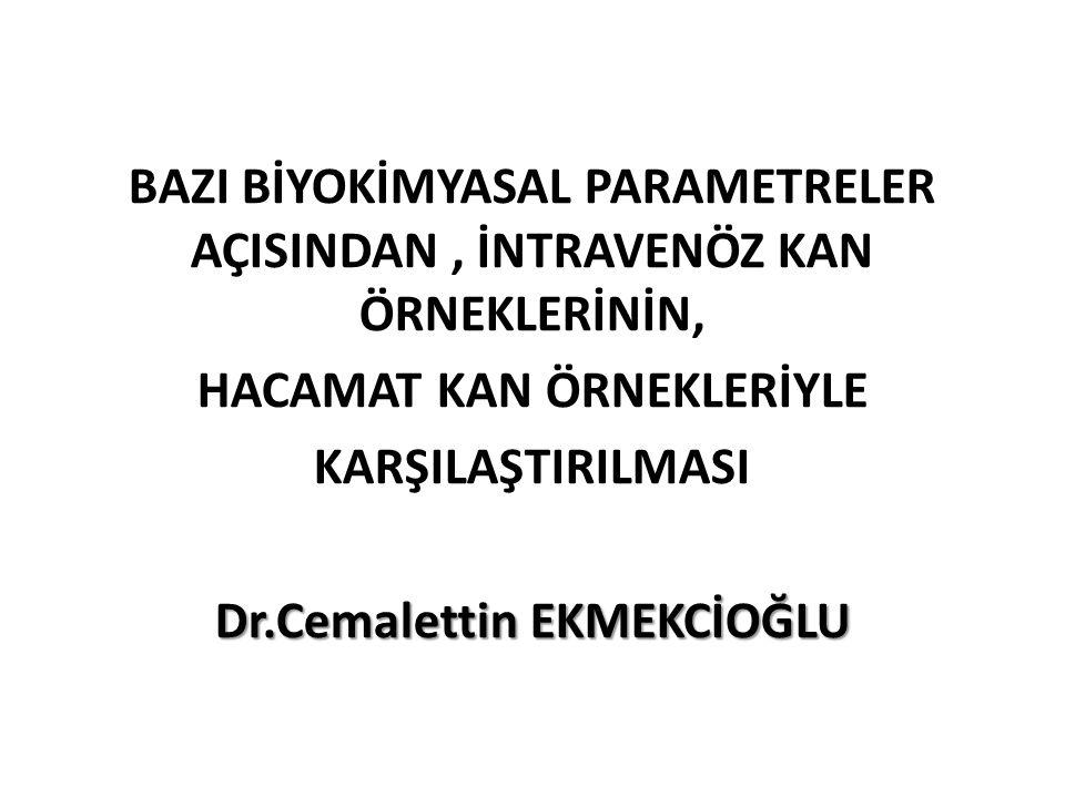 HACAMAT KAN ÖRNEKLERİYLE Dr.Cemalettin EKMEKCİOĞLU