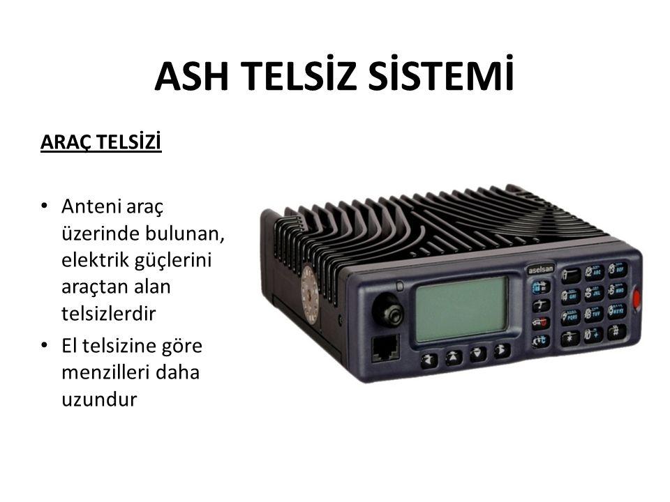 ASH TELSİZ SİSTEMİ ARAÇ TELSİZİ