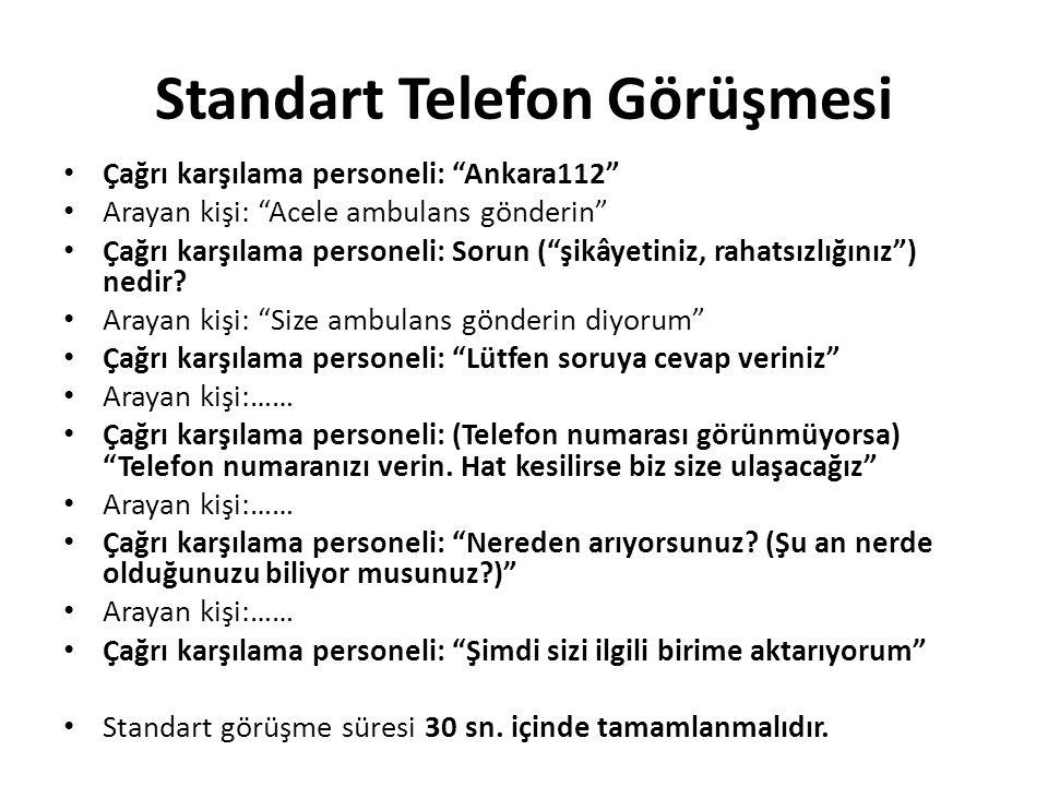 Standart Telefon Görüşmesi