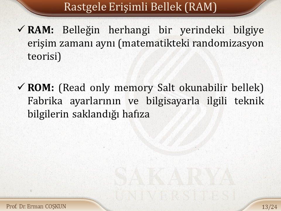 Rastgele Erişimli Bellek (RAM)