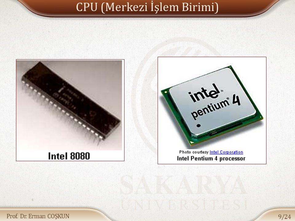 CPU (Merkezi İşlem Birimi)