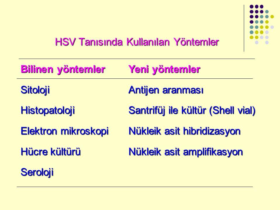 HSV Tanısında Kullanılan Yöntemler