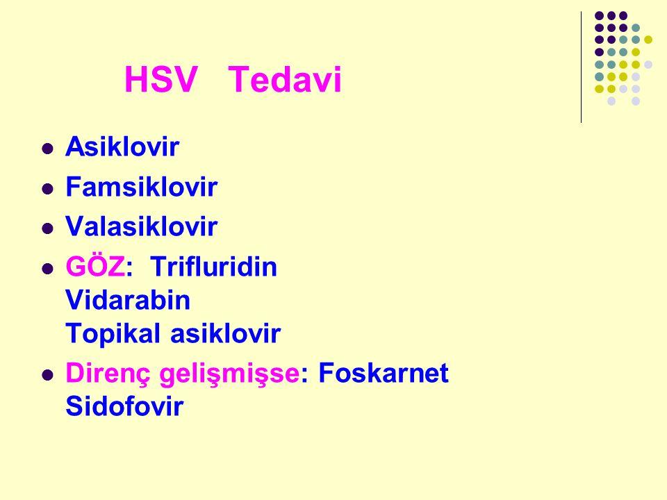 HSV Tedavi Asiklovir Famsiklovir Valasiklovir