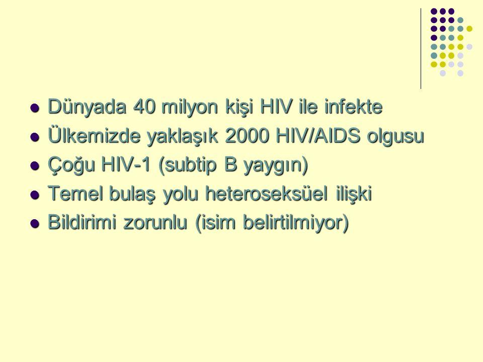 Dünyada 40 milyon kişi HIV ile infekte