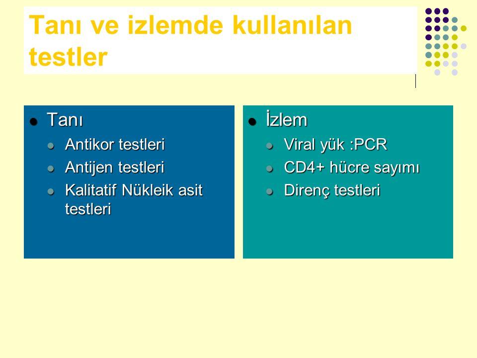 Tanı ve izlemde kullanılan testler