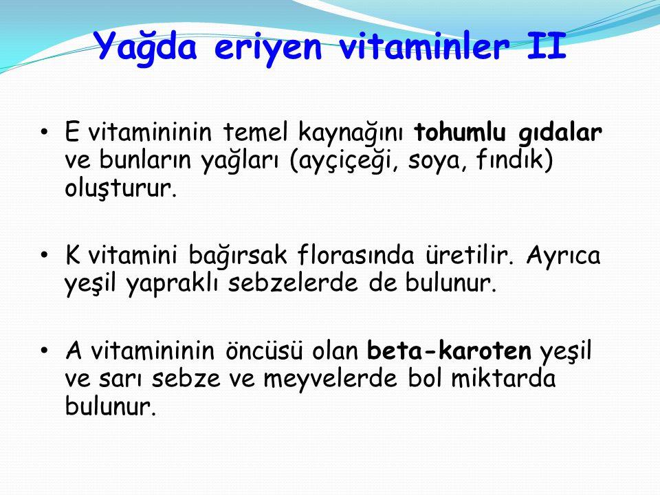 Yağda eriyen vitaminler II
