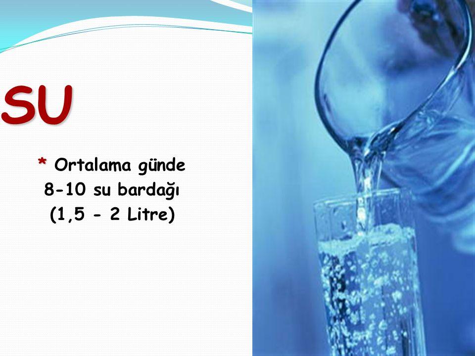 SU * Ortalama günde 8-10 su bardağı (1,5 - 2 Litre) 41