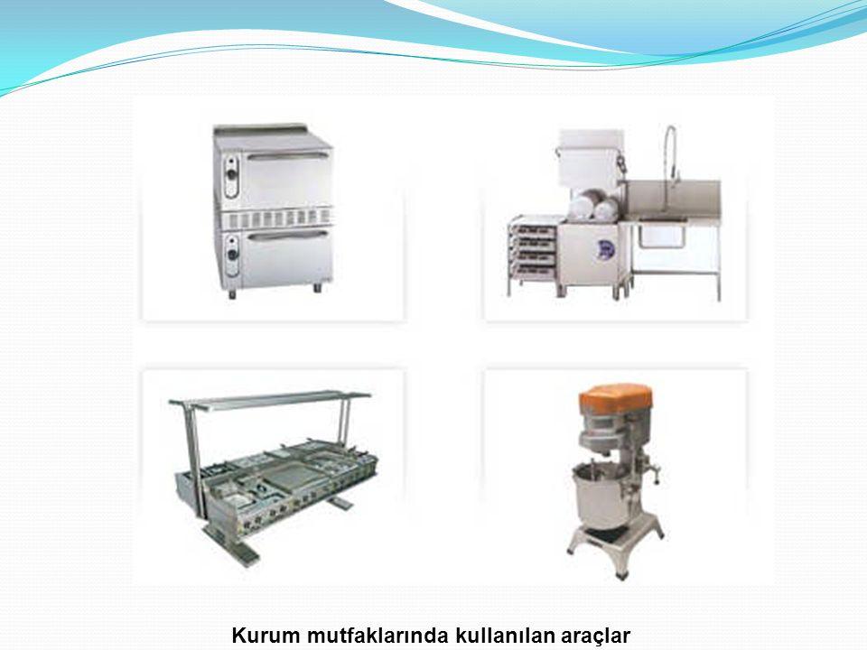 Kurum mutfaklarında kullanılan araçlar