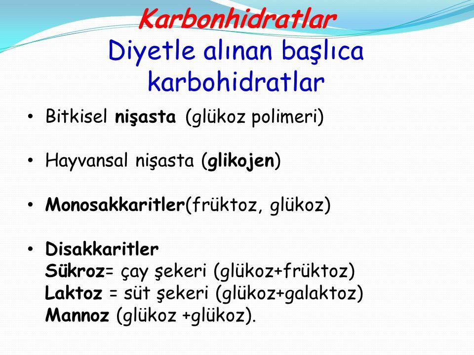 Diyetle alınan başlıca karbohidratlar