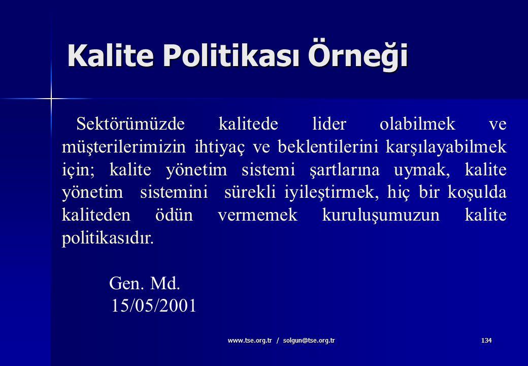 Kalite Politikası Örneği