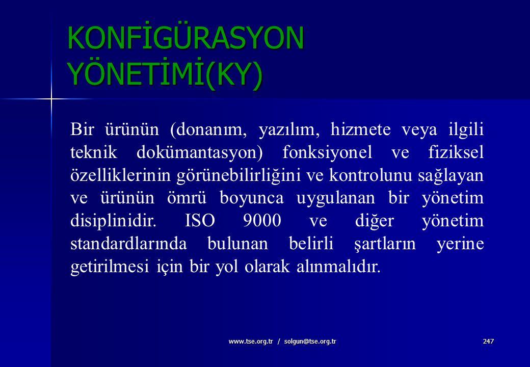 KONFİGÜRASYON YÖNETİMİ(KY)