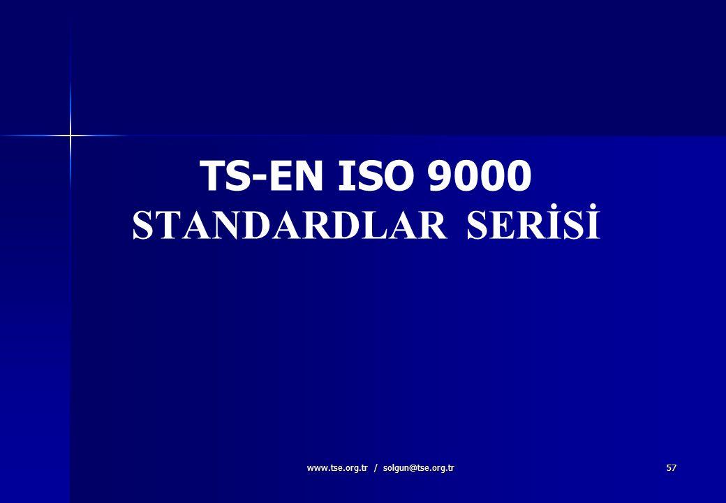 TS-EN ISO 9000 STANDARDLAR SERİSİ