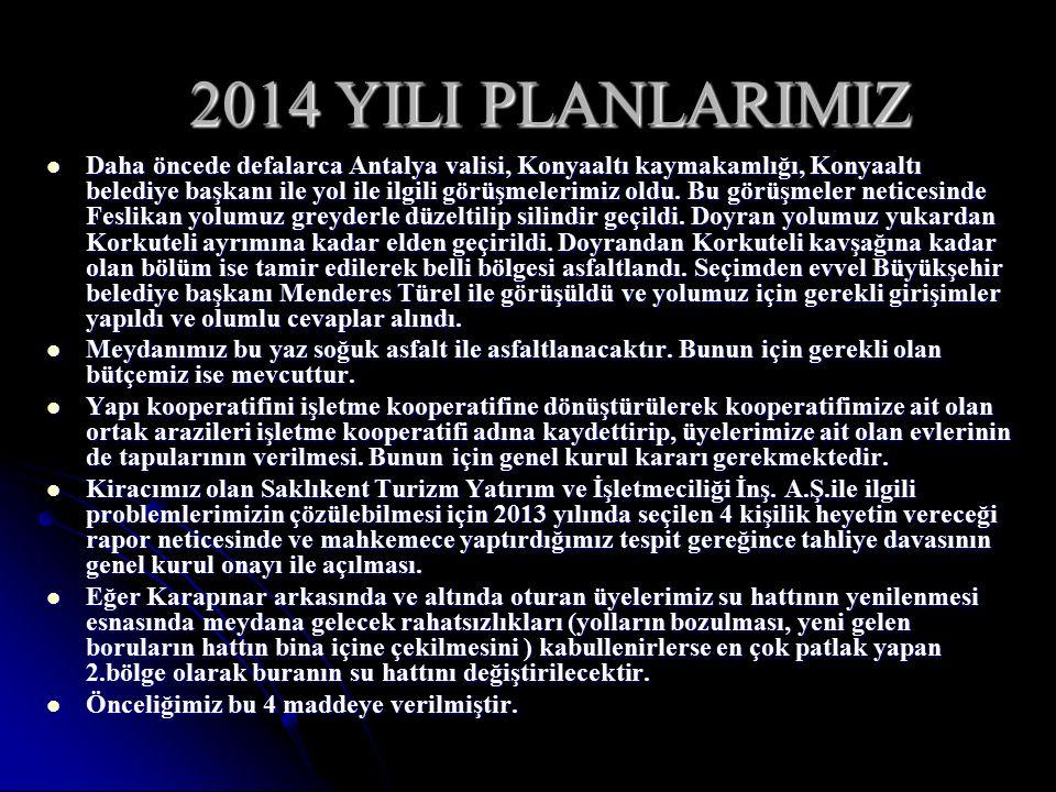 2014 YILI PLANLARIMIZ
