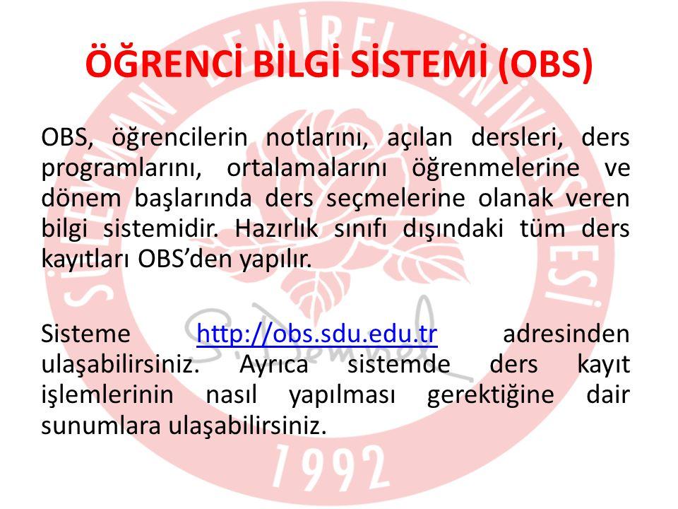 ÖĞRENCİ BİLGİ SİSTEMİ (OBS)